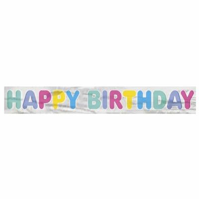 Foil Banner Happy Birthday