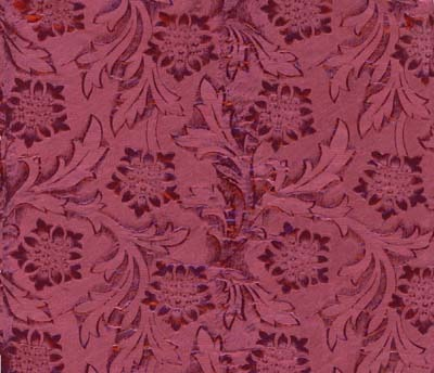 Foil Roll Poly Embossed Cranberry