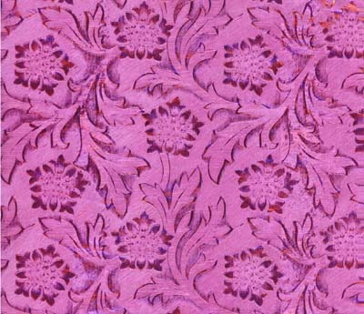 Foil Roll Poly Embossed Fuschia