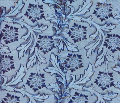 Foil Roll Poly Embossed Ice Blue