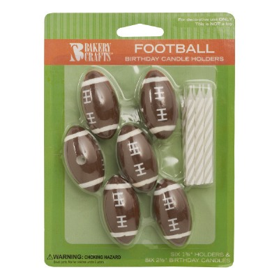 Football Candle Holder 6 CT