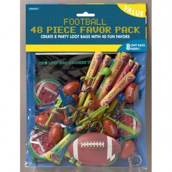 Football Favor Party Pack 48PC