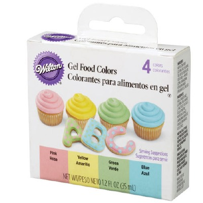 Gel 4 Color Icing Set