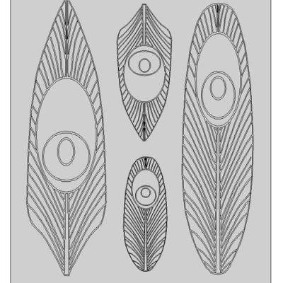 Gelatin Sheet-Feathers #2