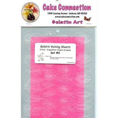 Gelatin Veining Sheets-Set 2