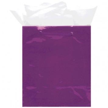 Glossy Medium Bag - Purple