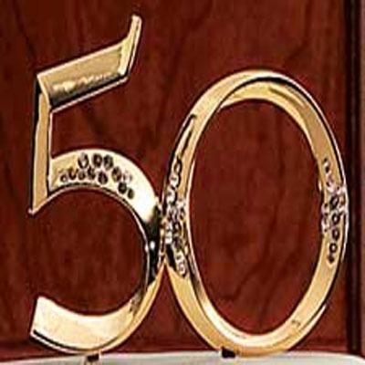 Gold 50th Anniversary Pick