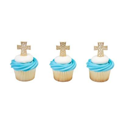 Gold Cross Cupcake Pic