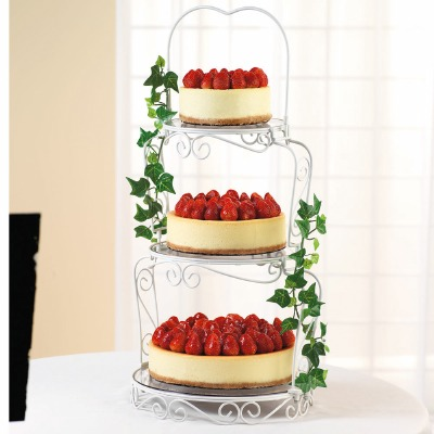Gracefull Tiers Cake Display Metal Cake Stand 3 Tiers
