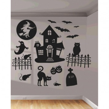 Halloween Wall Scene