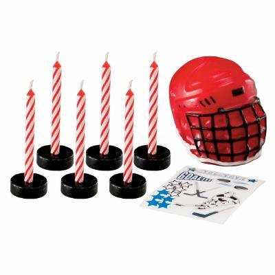 Hockey Decal Candle Set