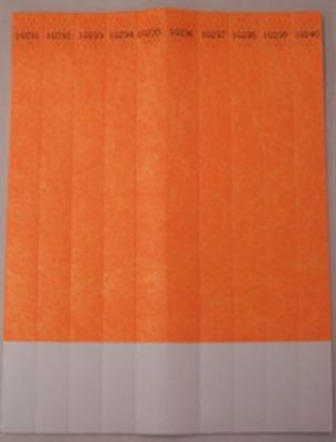 """ID Band 3/4"""" Neon Orange 100 CT"""