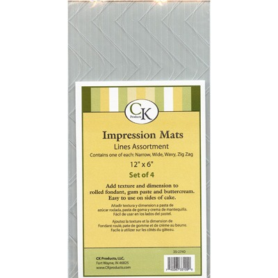Impression Mat Lines Assort. 4