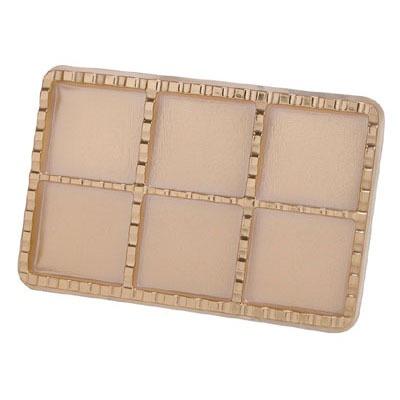 "2"" Square Gold Jewel Box 6 CAV"