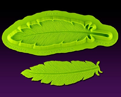 Large Feather Mold