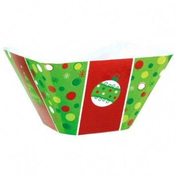 Holiday Buzz Square Bowl