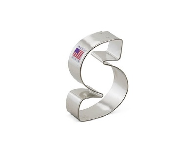 """3"""" Cookie Cutter Letter S"""