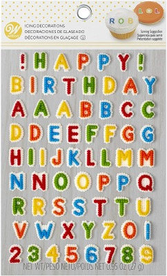 Letters & Numbers Icing Decs