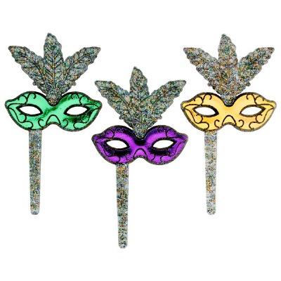 Mardi Gras Glitter Mask 12CT