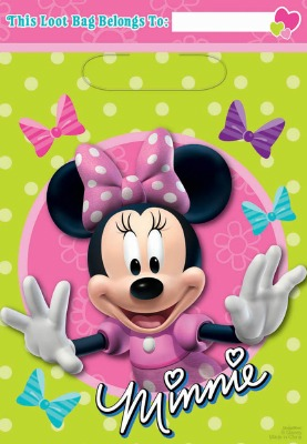 Minnie Mouse Loot Bags 8 CT