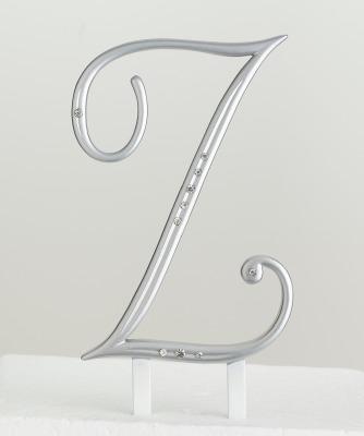 Monogram Silver Rhinestone Z