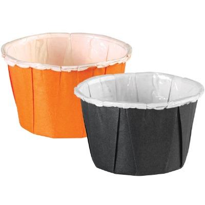 Nut Cups Black & Orange 24 CT