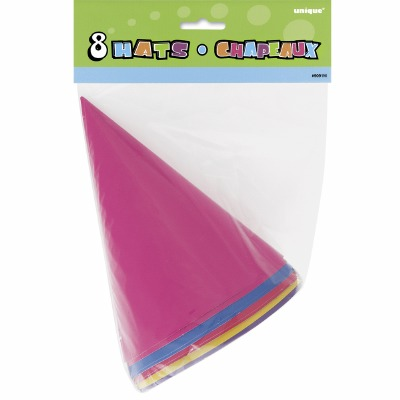 Party Hats 8 CT Assorted