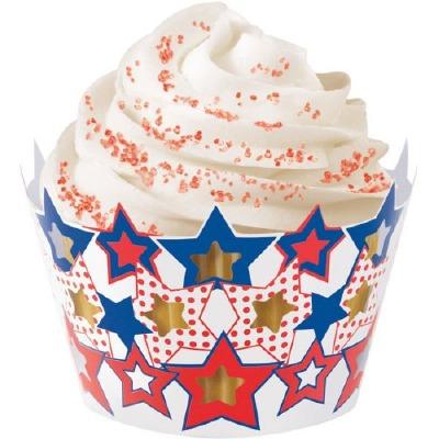 Patriotic Cupcake Wraps 18 CT