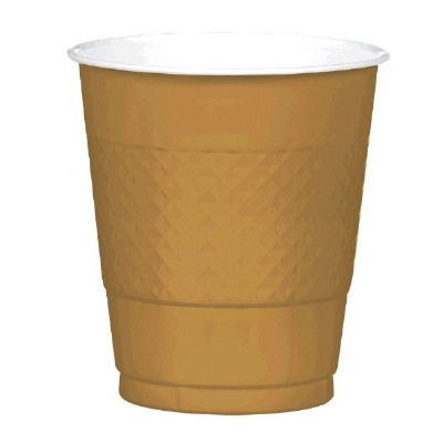 Plastic 12 OZ Cup 20 CT Gold