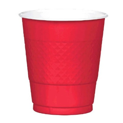 Plastic 12 OZ Cup 20 CT Red