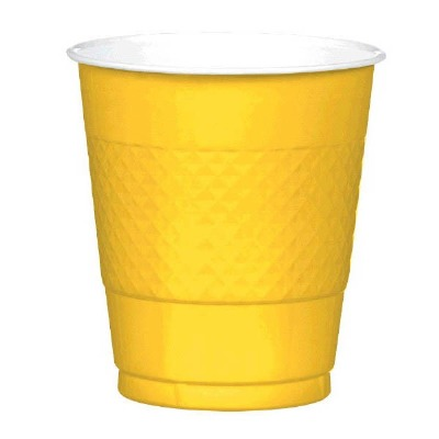 Plastic 12 OZ Cup 20 CT Yellow
