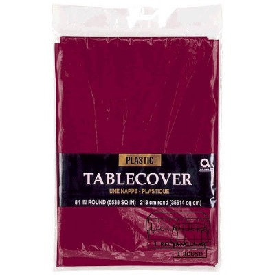"""Plastic Tablecover 54""""X108"""" Berry"""