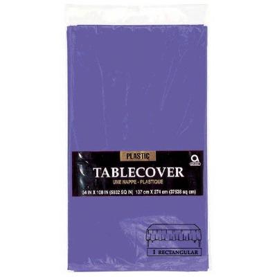 "Plastic Tablecover 54""X108"" Purple"