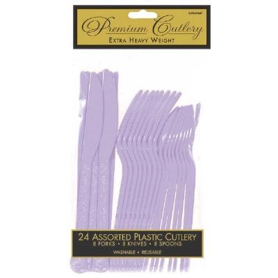 Premium Cutlery 24 CT Lavender