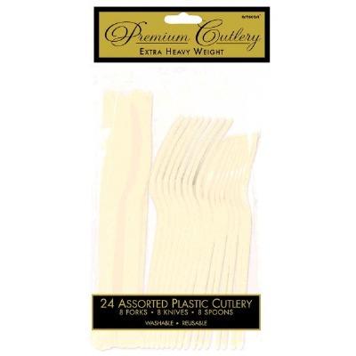 Premium Cutlery 24 CT Vanilla Creme