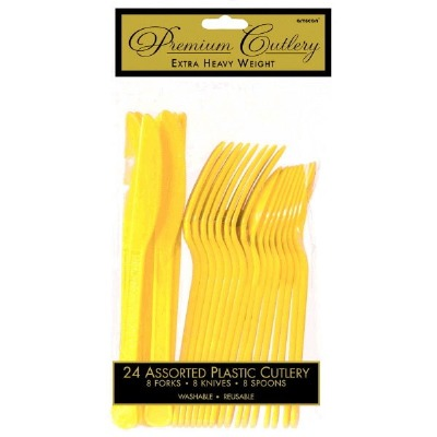 Premium Cutlery 24 CT Yellow