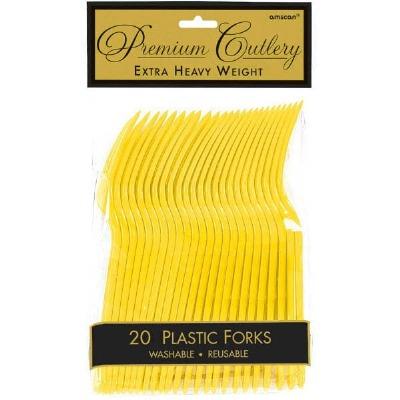 Premium Forks 24 CT Yellow