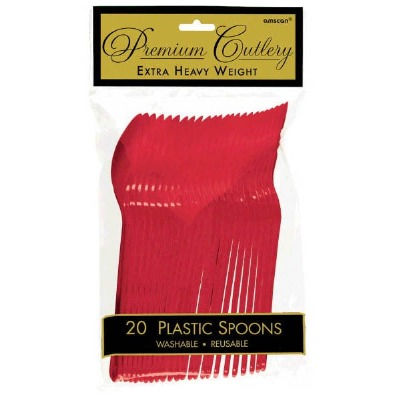 Premium Spoons 24 CT Red