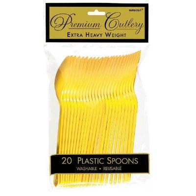Premium Spoons 24 CT Yellow