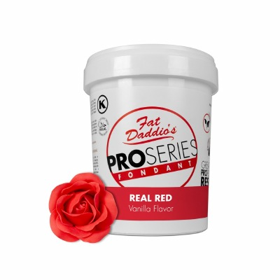 Fat Daddio's PRO Fondant Real Red 2 Pounds
