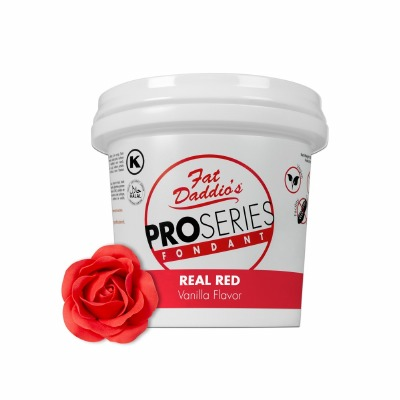 Fat Daddio's PRO Fondant Real Red 8 Pounds