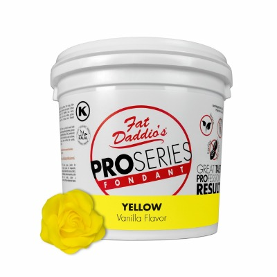 Fat Daddio's PRO Fondant Yellow 5 Pounds