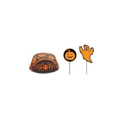 Pumpkin Bake Cups/Picks 25 CT