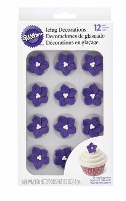 Purple Posy Icing Decoration