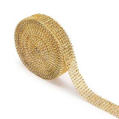 Rhinestone Wrap Gold - 4mm 10'