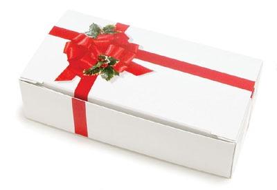 Ribbon & Holly Candy Box 2 LB