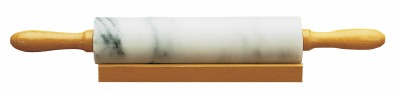 "10"" Marble Rolling Pin w/ Base"