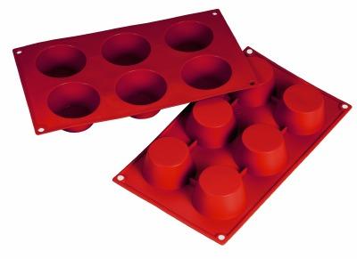 Silicone Mold Muffin 3.38oz 6 CAV