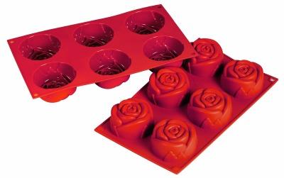 Silicone Mold Rose 6 CAV
