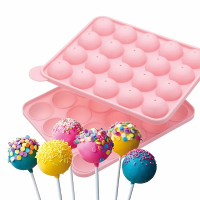 Pink Silicone Cake Pop Pan